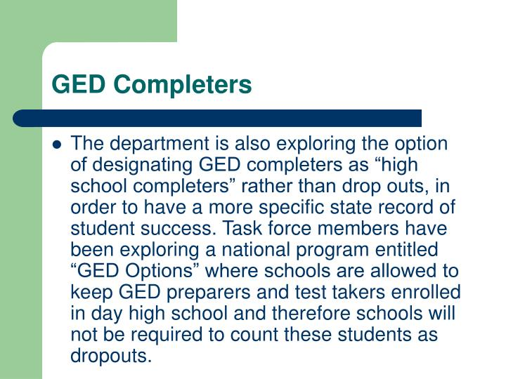GED Completers