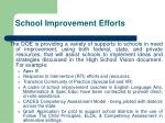 school improvement efforts