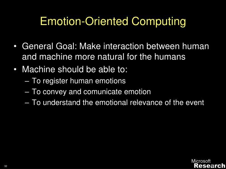 Emotion-Oriented Computing