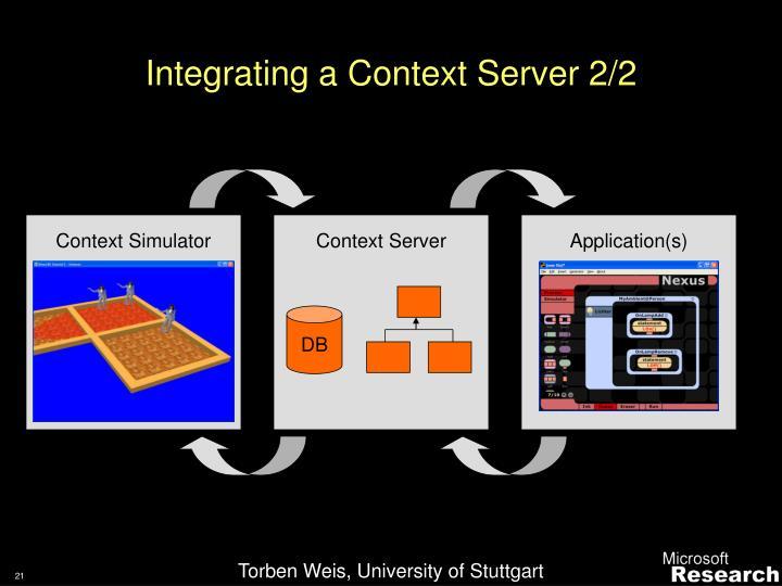 Integrating a Context Server 2/2