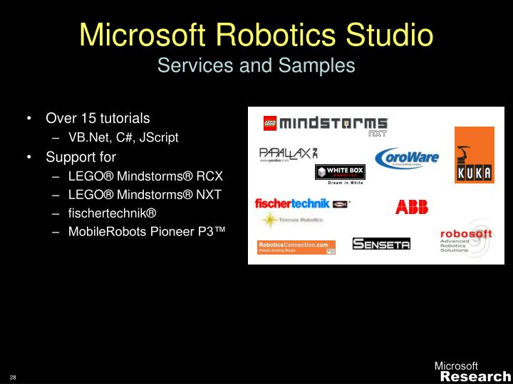 Microsoft Robotics Studio