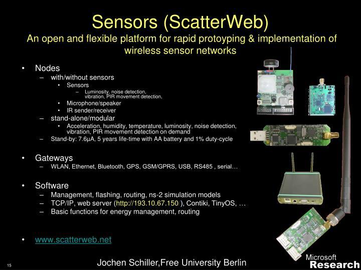Sensors (ScatterWeb)