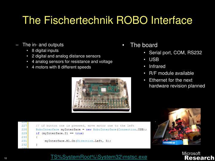 The Fischertechnik ROBO Interface