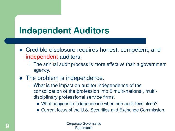 Independent Auditors