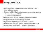 using orastack