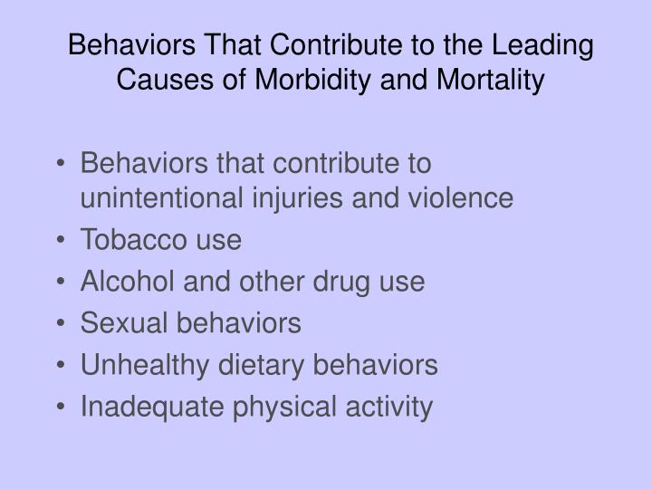 Behaviors That Contribute to the Leading Causes of Morbidity and Mortality