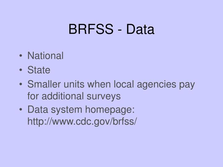 BRFSS - Data