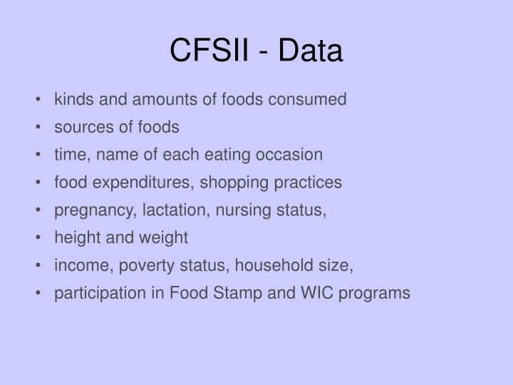 CFSII - Data