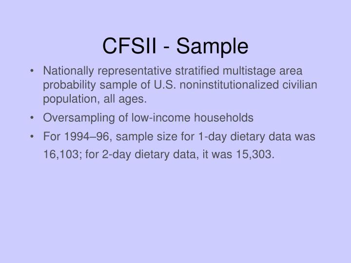 CFSII - Sample