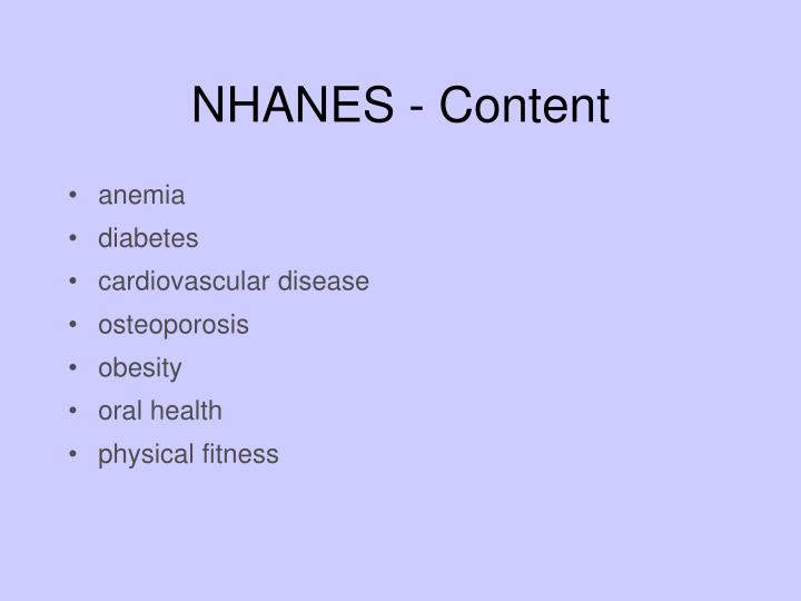 NHANES - Content