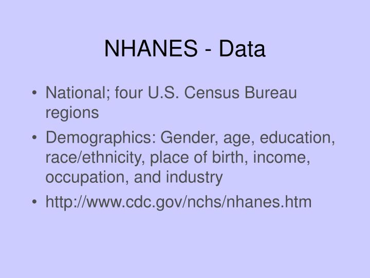 NHANES - Data