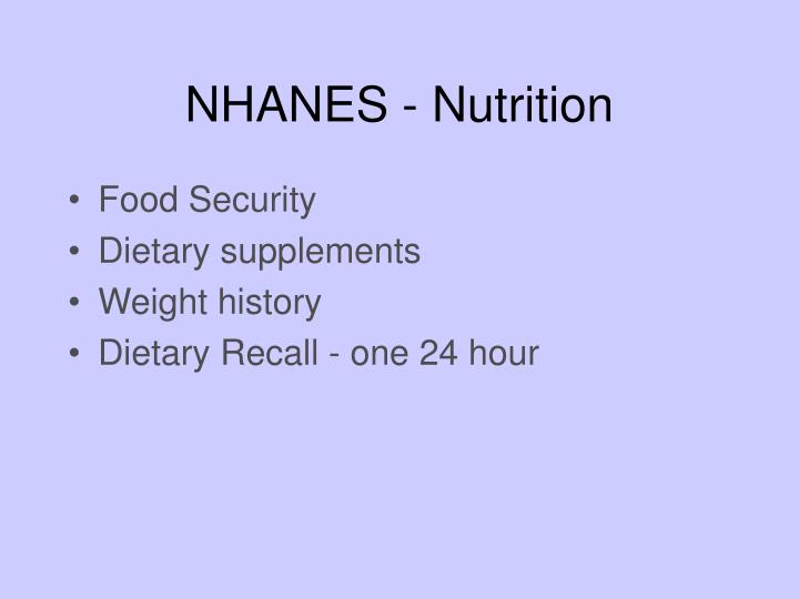 NHANES - Nutrition