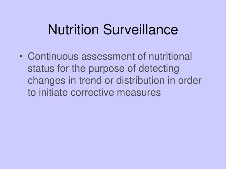 Nutrition Surveillance