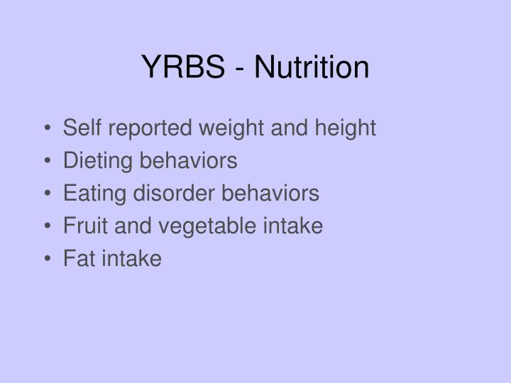 YRBS - Nutrition