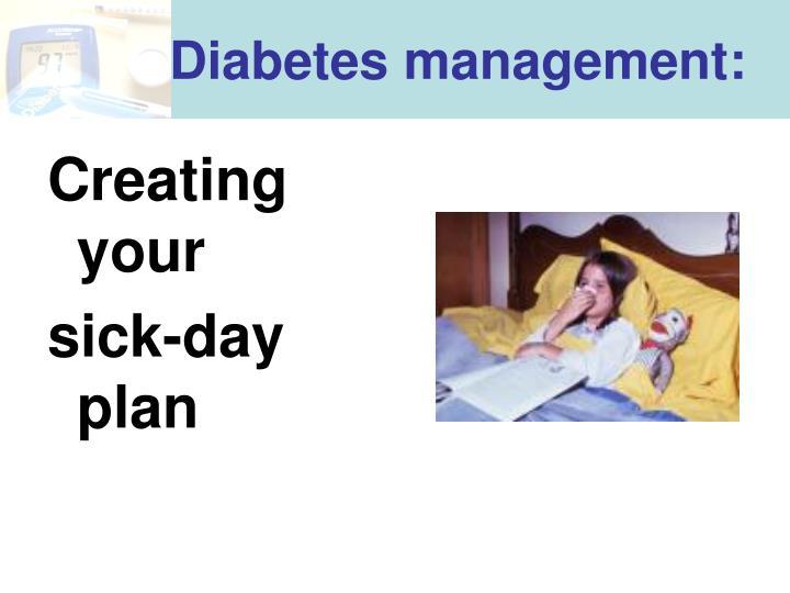 Diabetes management: