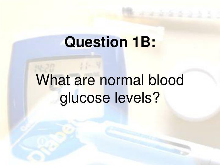 Question 1B: