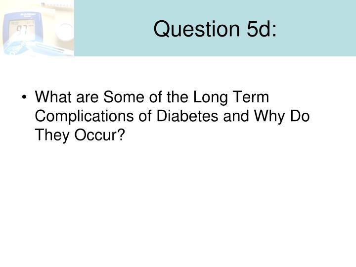 Question 5d: