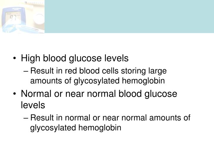 High blood glucose levels