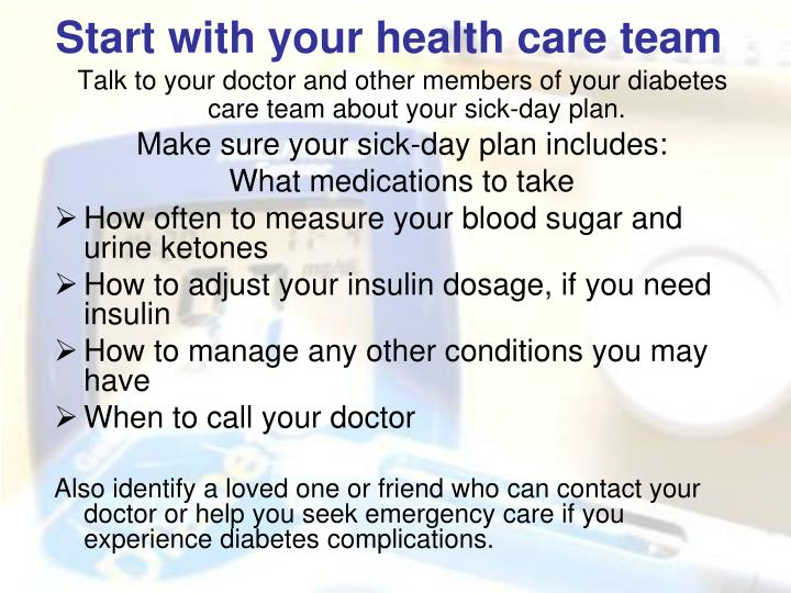 Start with your health care team