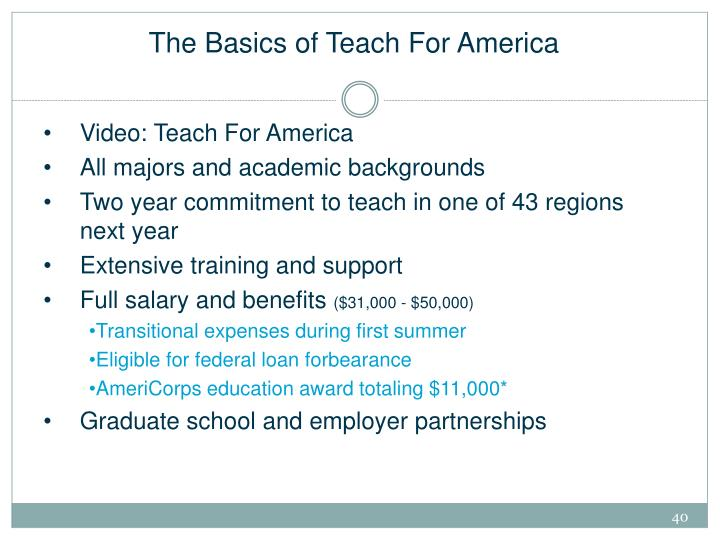 The Basics of Teach For