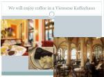 we will enjoy coffee in a viennese kaffeehaus