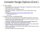 compiler design options cont