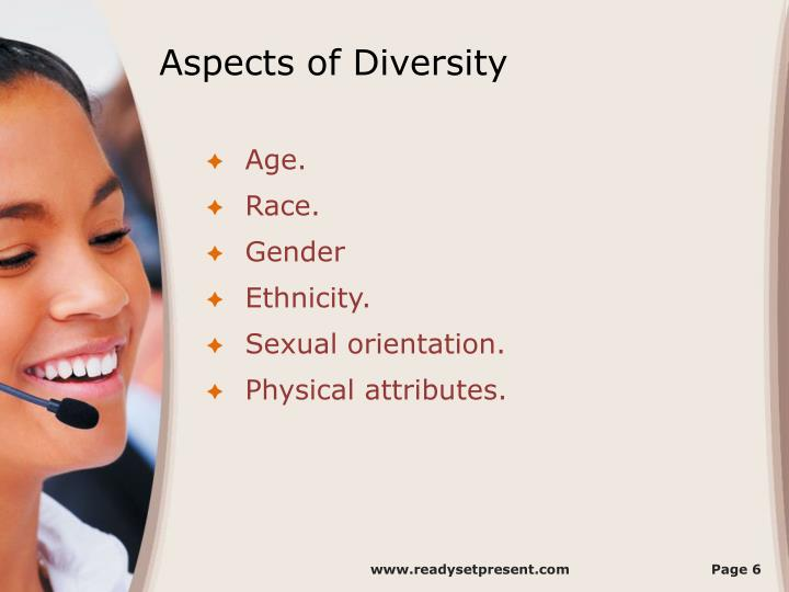 Aspects of Diversity