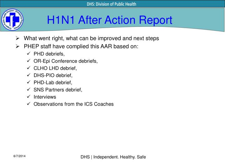 H1N1 After Action Report