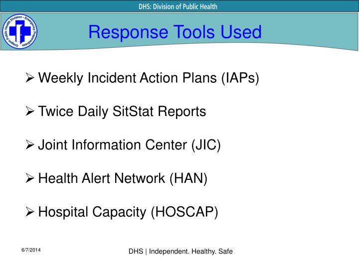 Response Tools Used