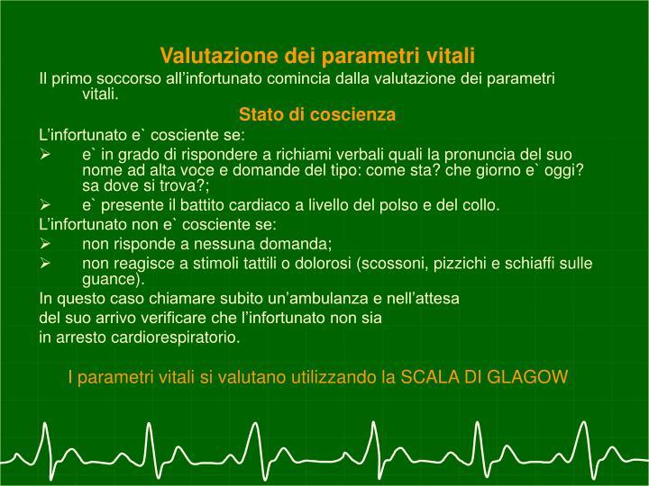 Valutazione dei parametri vitali