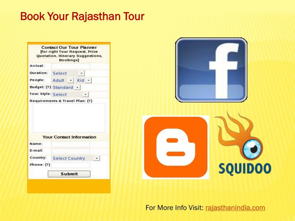 Book Your Rajasthan Tour