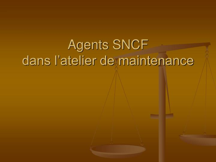 Agents SNCF
