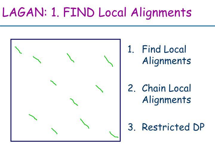 LAGAN: 1. FIND Local Alignments