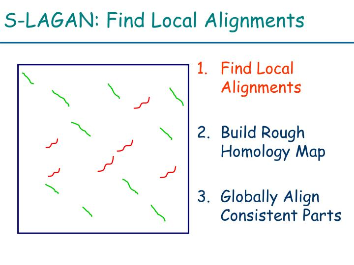 S-LAGAN: Find Local Alignments