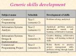 generic skills development