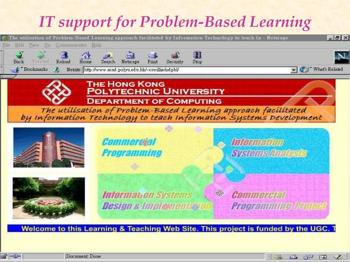 IT support for Problem-Based Learning