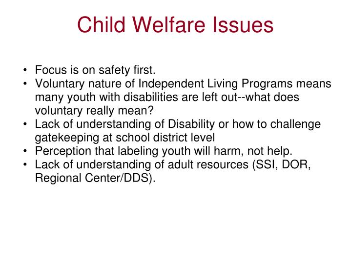 Child Welfare Issues