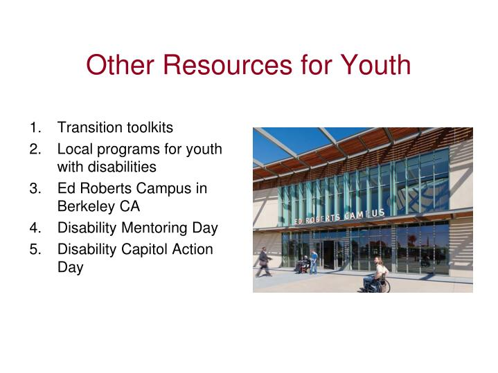 Other Resources for Youth