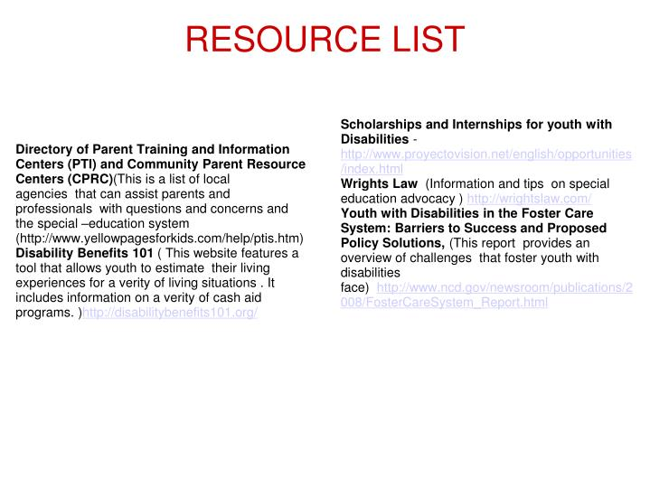 Directory of Parent Training and Information Centers (PTI) and Community Parent Resource Centers (CPRC)