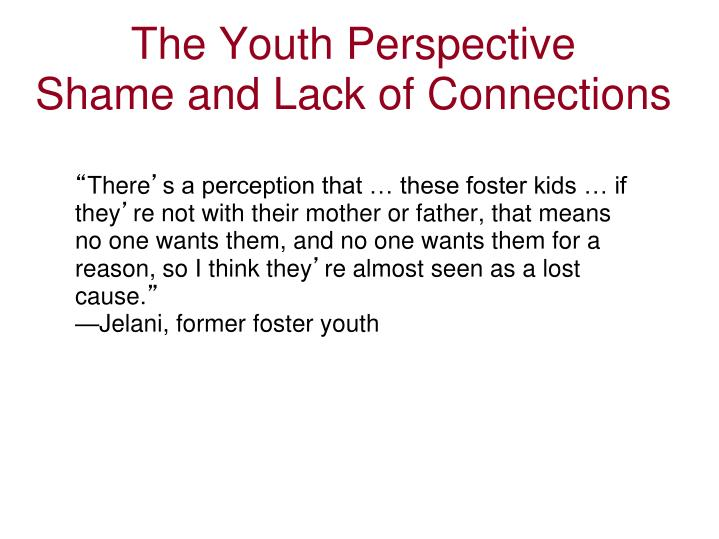The Youth Perspective