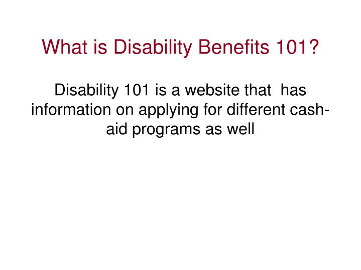 What is Disability Benefits 101?