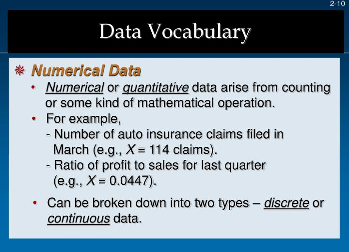 Data Vocabulary