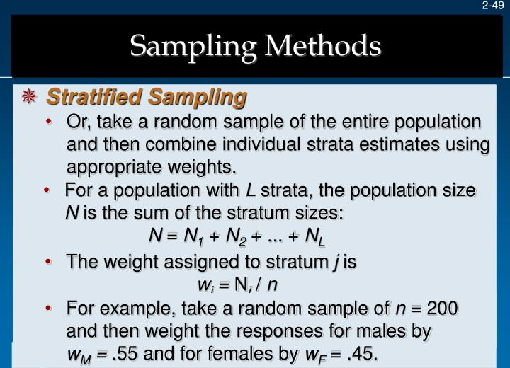 For example, take a random sample of