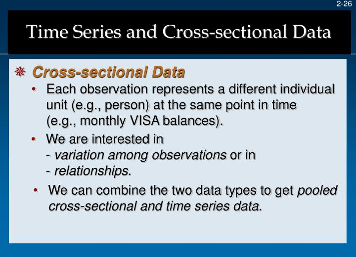Time Series and Cross-sectional Data