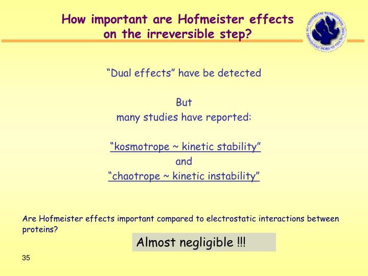 How important are Hofmeister effects