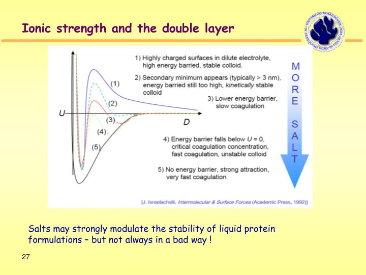 Ionic strength and the double layer