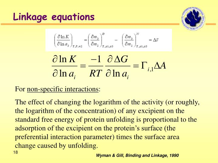 Linkage equations