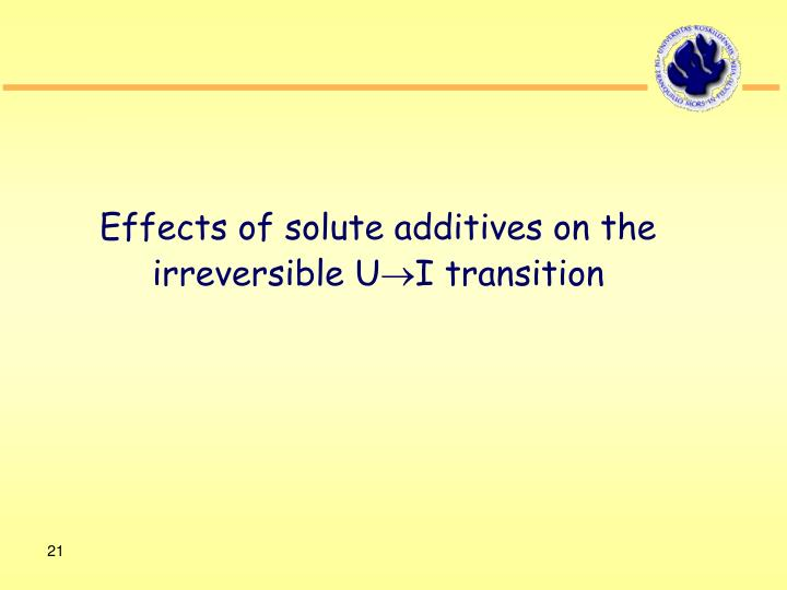 Effects of solute additives on the irreversible U