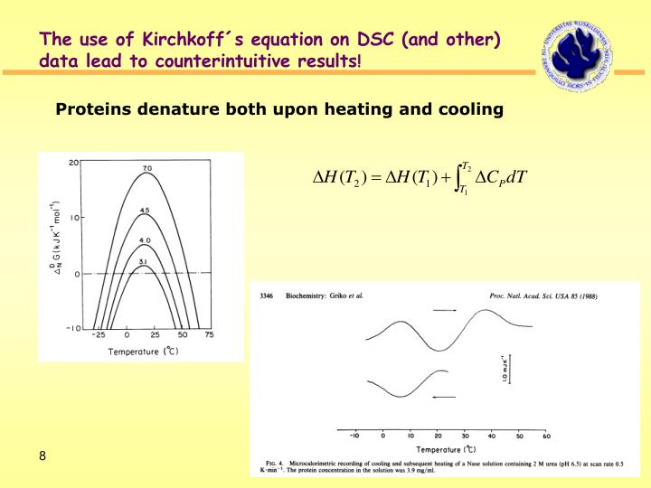 The use of Kirchkoff´s equation on DSC (and other)