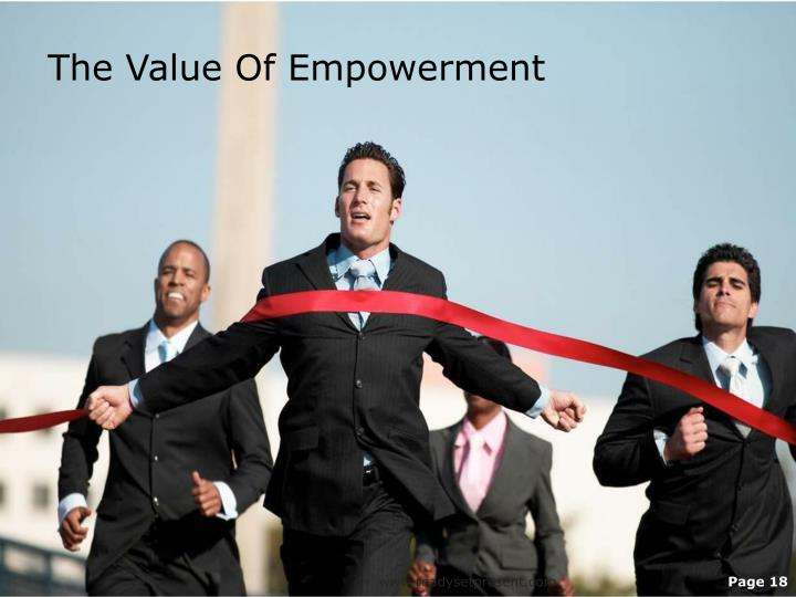 The Value Of Empowerment